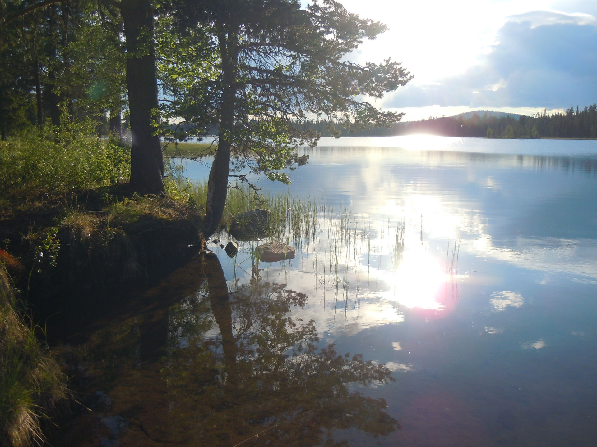 Southern Reivo Lake in lapland
