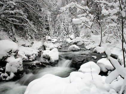 Winter river in Lapland