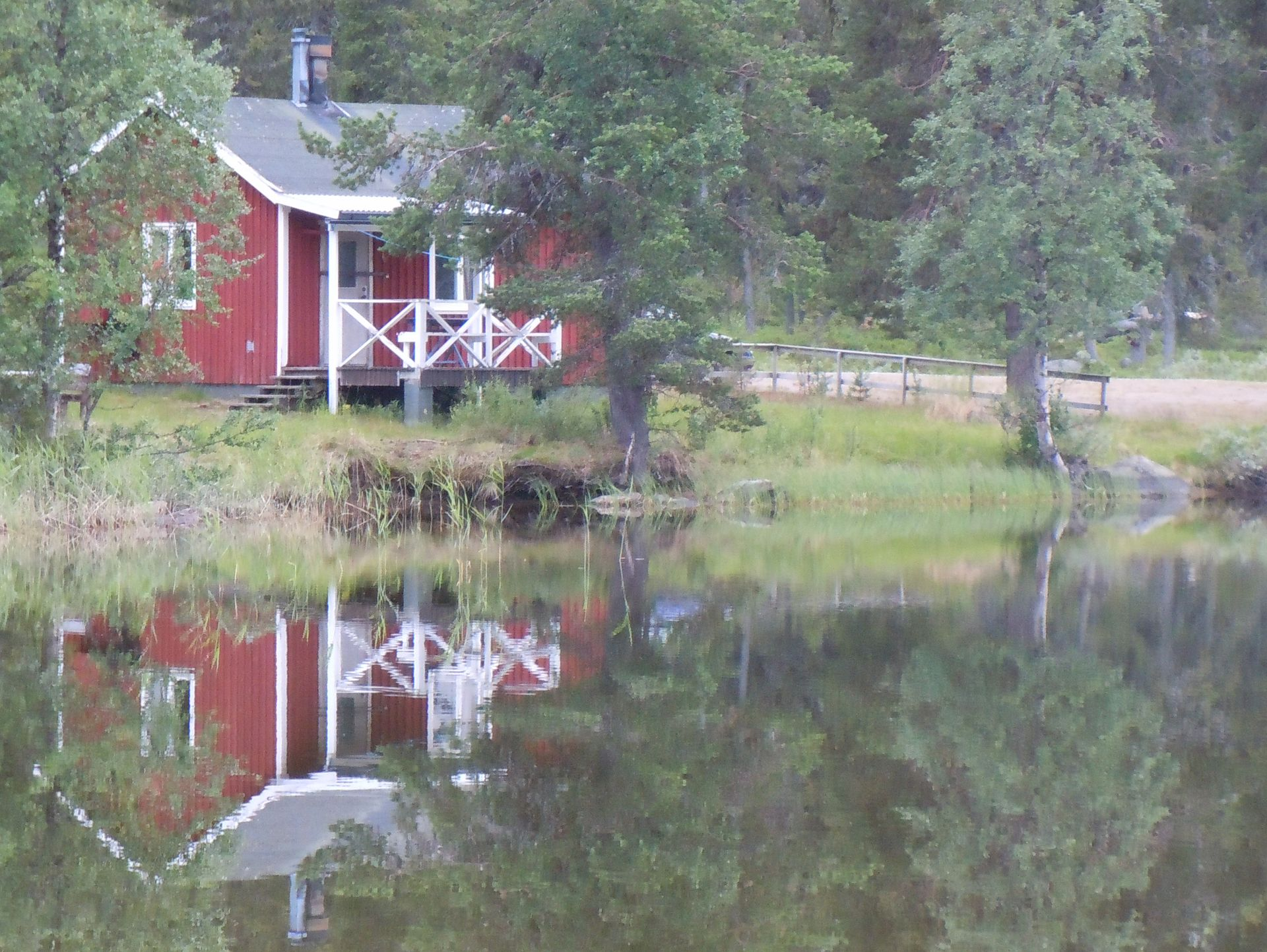 Fishing cabin at the lake in Lapland